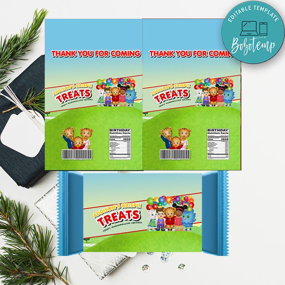 Daniel Tiger Rice Krispie Treat Digital File Printable DIY ...