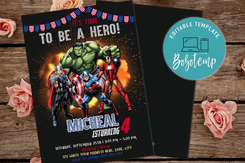 Avengers Invitations Template Free from cdn.tangledigitalprints.com